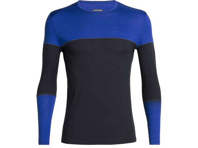 Icebreaker 200 Oasis Deluxe T-shirt manches longues à col ras-du-cou Homme, midnight navy/surf